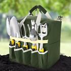 10 Piece Gardening Tool Set Folding Stool with Tool Bag and 5 Gardening HE8Y