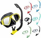 NEW - TUSA UC-7519 CRYSTAL SILICONE Mask and Hyperdry Top Snorkel Set Combo