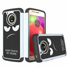 For Motorola MOTO E4 Case Slim Armor PC+Silicone Hybrid Shockproof Phone Cover