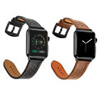 Quality Genuine Leather Watch Strap Band for Apple Watch Series 1 2 3 38mm 42mm