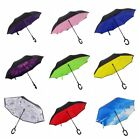 Inside-Out C-Handle Double Layer Upside Down Umbrella Reverse  Xmas Gift