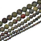 "Matte Natural Dragon Bloodstone Gemstone Round Beads 15.5"" 4mm 6mm 8mm 10mm 12mm"