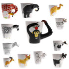 3D Cute Animal Shape Hand Painted Ceramic Mugs Coffee Milk Tea Cups For Home