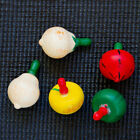 Creative Random Baby Rotating Spinning Top Wooden Fruits Design Classic Toy