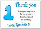 tc 10 Personalised Thank you CARDS & envelopes, thanks birthday age party boys