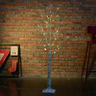 1.2M 48LED Silver Birch Twig Tree Warm Light White Branches with 8 Functions