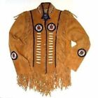 Mens Western Wear Cowboy Style Fringe Suede Leather Jacket  Vintage Wear Jacket