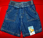 Внешний вид - NEW lot of Garanimals boys or girls blue denim shorts BUYMORESAVEMORE 24 mths