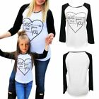 US Mommy and Me Outfits Mother Daughter Matching Shirt Girl Dress Family Outfits