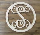 Vine Letters Circle Letters Door Hangers Wood Letters Room Decor House Sign Gift