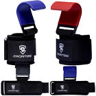 New Wrist Wraps Strap Hook Dip Gym Training Bar Grip Power Weight Lifting Padded