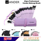 VANDER PROFESSIONAL 24PCS MAKEUP BRUSH SET EYEBROW POWDER BRUSHES + MAKEUP CASE