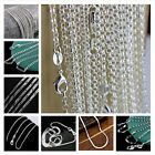 Wholesale 925 Silver Chains Women Men Fashion Necklace Jewelry Curb Snake Uk