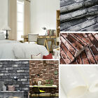 9.5m Rustic 3d Brick Stone Textured Vintage Vinyl Wallpaper Roll Decal Homedecor