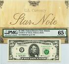 1995 $5 Federal Reserve **STAR** Note Atlanta FR 1985-F* PMG 65 Gem Unc. EPQ - 4