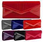 Wholesale Job Lot New Ladies Clutch Hand Bag Purse Pleated Faux Suede Wedding