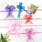 50 X LARGE Ribbon Bows assorted colour easy pull flowers ribbon party decoration