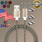 US 3/6/10ft Magnetic LED Display USB-C Type-C IOS Micro USB Charger Charge Cable