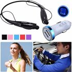 pro bluetooth headset - Bluetooth Headset + Car Charger For ZTE Zmax Pro Max XL Blade Z Axon 7 M Grand X