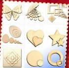 3mm Polywood Crafts ☆Wood Shapes☆ Heart Star Egg Square Ring Circle Butterfly UK