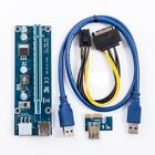 LOT USB 3.0 PCI-E Express 1x To 16x Extender Riser Card Adapter Power