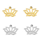 Simple Fashion Hollow Lotus Ear Studs Korean Lady Earrings 1 pair Jewelry Gifts