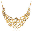 Fashion Exaggerated Retro Hollow Carved Short Clavicle Necklace Sweater Chain