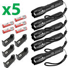 6 X Ultrafire Tactical 15000LM T6 Power LED Zoom Flashlight + 18650&amp;Charger USA <br/> Fast USA SELLER~ Top quality!