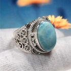 Retro 925 Sliver Filled Natural Turquoise Wedding Anniversary Jewellry Gift#6-10