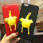 Funny Yellow Chicken iPhone 6/7/X Finger Pinch Lay Egg Soft Case Cover New 1PC