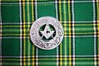 Masonic Design Piper Plaid Brooch For Shawl High Quality Chrome Finish
