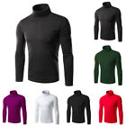 Men's Cotton Thermal High Collar Turtle Neck Solid Shirts Long Sleeve Sweaters