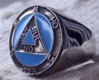 STERLING SILVER 925 JEHOVAH JAH BUL ON MASONIC RING DEGREE PIN PATCH D80