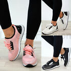 New Womens Slip On Trainers Flat Gym Running Comfy Ladies Shoes Sizes 3-8