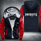 Patriots Football Team Men Women Thicken Fleece Zipper Hoodie Jacket Clothing