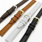 Smooth Padded Replacement Leather Watch Band 12mm 14mm 4 Colours C009
