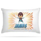 Personalised Superhero Pillow Case Kids Children  Cushion Cover Gift Boys Girls image