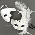 Men Women Brocade Lace Feather & Phantom Masquerade Costume Prom Masks