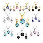 Stainless Steel Women's Unisex Set Inch Necklace Earrings Ro