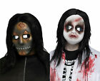 Scary Horror Mask w/ Hair Baby Doll Soul Stealer Costume Hal