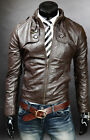 Mens Brown Genuine Cowhide Hand made Leather Jacket Real Bespoke  Leather