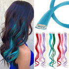 UK 10PCS/Set Highlight Streaks Straight Wavy Clip in Synthetic Hair Extensions