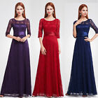 Ever-Pretty UK Lace Long Half Sleve Bridesmaid Gown Evening Formal Dresses 08878