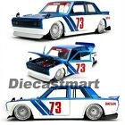 JADA JDM TUNERS 1:24 1973 DATSUN 510 WIDEBODY DIECAST MODEL CAR BRAND NEW 98556