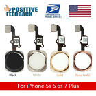 New Home Button Key Flex Cable Replacement For Apple iPhone 5s 6 6s 7 Plus USA