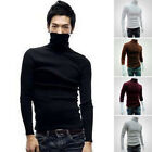 Winter Men Slim Warm High Neck Turtleneck Pullover Jumper Sweater Tops Plus Size