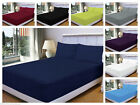 """Exra Deep Fitted 16""""/40CM Percale Sheet, Size Single, Double, King, Super King  image"""