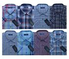 Mens Short Sleeve Summer Yarn Dyed PolyCotton Check Shirt M - 6XL By Tom Hagan