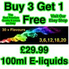 E-Liquid E-Juice Quality Refill Vaping Flavours 50Vg / 50Pg BUY 3 GET 1 FREE A1