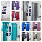 Diamante Thermal Blackout Luxurious Curtain Pair Ready Made Eyelet / Ring Top Nz